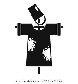 Garden scarecrow icon. Simple illustration of garden scarecrow icon for web design isolated on white background