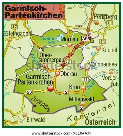 Garmisch Partenkirchen Bavaria Germany Stock Illustration 96184439