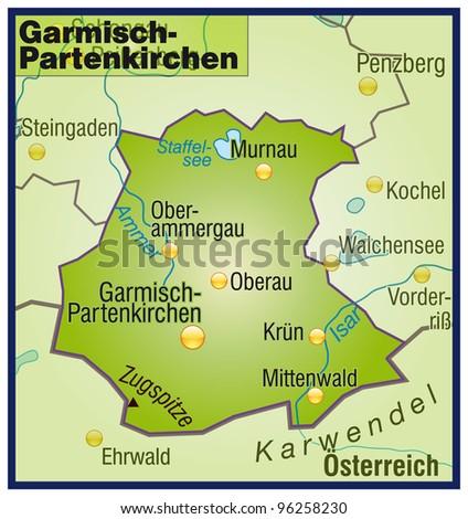 Garmisch Partenkirchen Bavaria Germany Stock Illustration 96258230