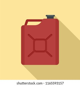 Gas canister icon. Flat illustration of gas canister icon for web design