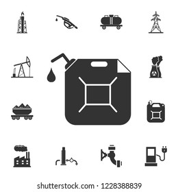 Gas canister icon. Simple element illustration. Gas canister symbol design from Petrol collection set. Can be used for web and mobile