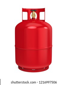 Gas Cylinder Isolated. 3D rendering