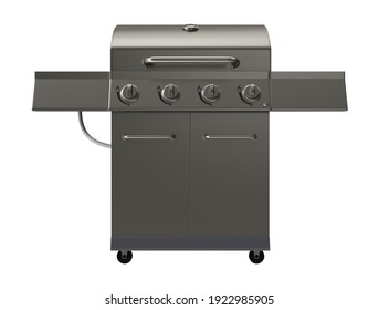 Gas Grill 3D illustration on white background