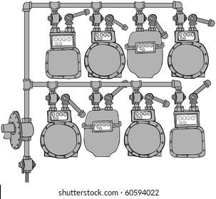 Gas Meter Header