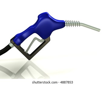 Gas nozzle on a white background 3d