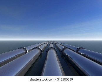 gas and oil pipe line that laid through the ocean