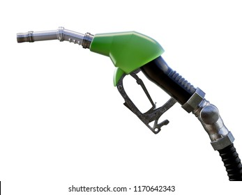 Gas pump nozzle, isolated. 3D illustration