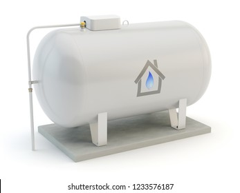 Gas Tank isolated on white, 3D illustration