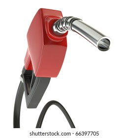 Gasoline Pump isolated on white.