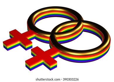 Gay marriage sign, isolated on white background.