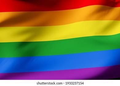 gay pride official flag.  LGTBI