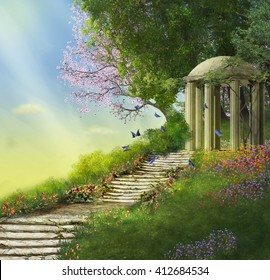 Stone Gazebo Images, Stock Photos & Vectors   Shutterstock