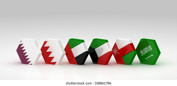 GCC FLAGS | Hex Style | Lined Up