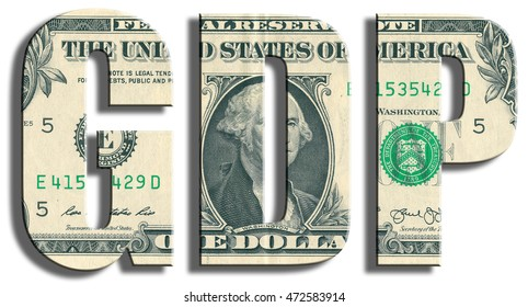 GDP - Gross Domestic Product. US Dollar texture.