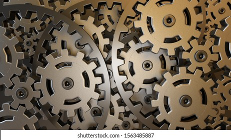 gear background machine technology teamwork industry 3D illustration