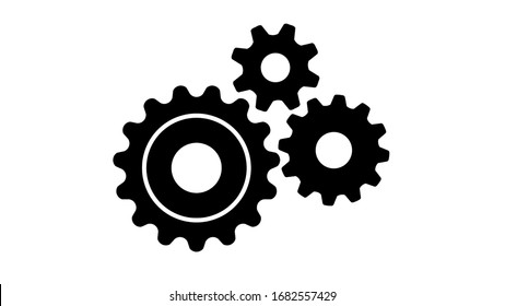 Gear or cog icon on white background.