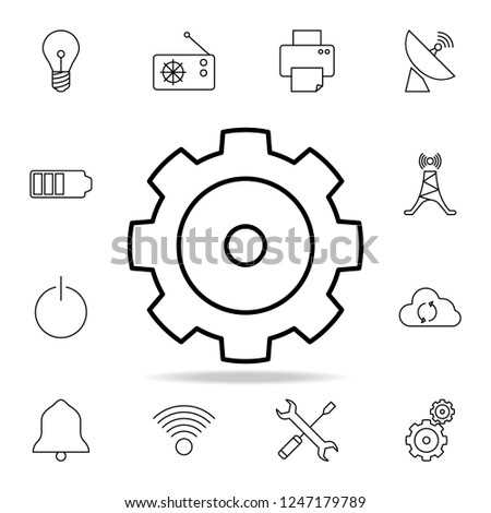 Gear Icon Detailed Set Simple Icons Stock Illustration 1247179789