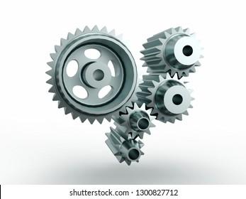 Gears, 3D model