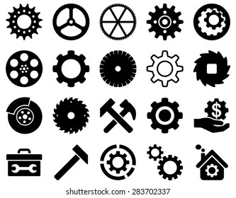 Gears and service icon set.