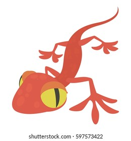 Gecko icon. Cartoon illustration of gecko  icon for web