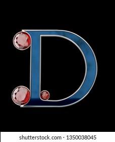 Gemstone Letters - 3D Rendering