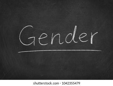 Gender concept word on a blackboard background