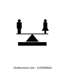 gender equality icon. Element of human rights icon. Premium quality graphic design icon. Signs and symbols collection icon for websites, web design, mobile app