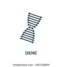 Gene icon illustration. Creative sign from biotechnology icons collection. Filled flat Gene icon for computer and mobile. Symbol, logo graphics.