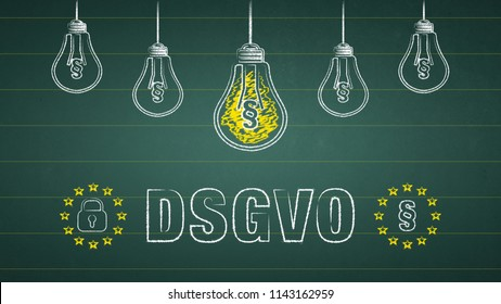 General Data Protection Regulation, GDPR - german text: DSGVO