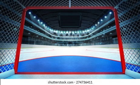 general hockey stadium view inside goal sport arena rendering my own design