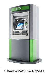 Generic ATM or Automated Teller Machine. 3D illustration.