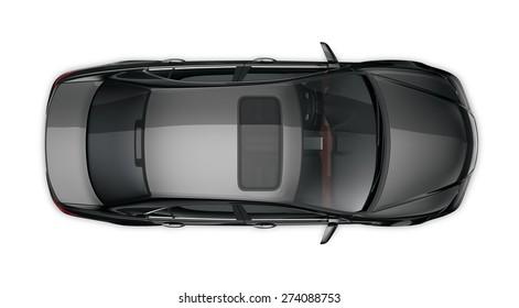 Generic black car - top angle
