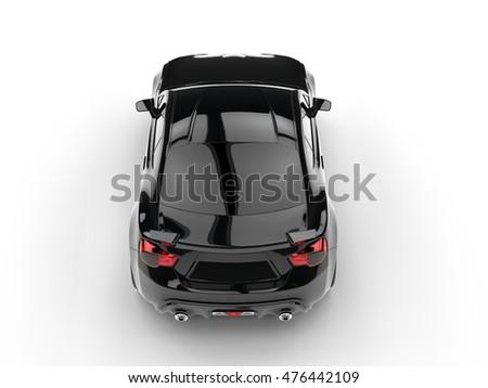 Generic Black Sports Car Top View Stock Illustration 476442109