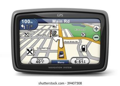 Generic GPS navigation system device (3d illustration)