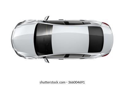 Generic silver car - top view