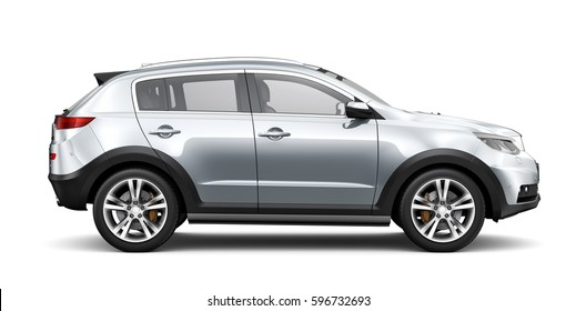 Generic SUV car - side view (3D render)