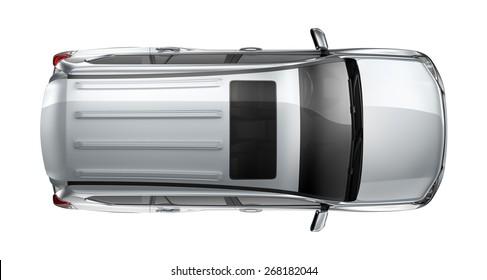 Generic SUV car - top view