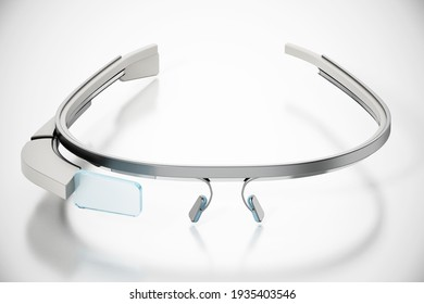 Generic wearable augmented reality smart glasses isolated on white background. 3D illustration.