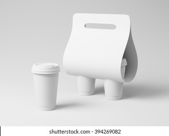 Generic white empty cupholder template