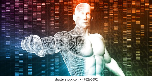 Genetic Engineering Science Research and Development Concept 3D Illustration Render