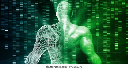 Genetic Engineering and Testing as a Medical Concept 3D Illustration Render