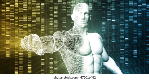 Genetic Modification as a Science Concept Industry Art 3D Illustration Render