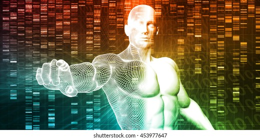 Genetic Testing and Analysis as a Abstract 3D Render Illustration