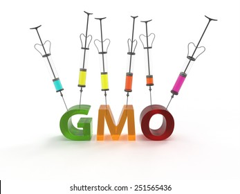 Genetically modified organisms GMO 3D injectors
