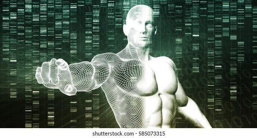 Genome Sequence and Medical Breakthrough as a Science Concept 3D Illustration Render