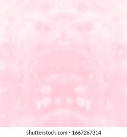 Gentle Deep Dyed Print. Tie Dye Pattern. Indonesian Dress. Multicolor Colourful Paint Texture. Multicolor Textile Paint Motifs. Wedding Shibori Textile Design.