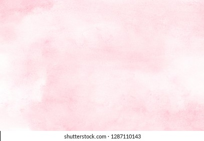 Gentle magenta color handmade illustration. Aquarelle paint paper textured canvas for text design, greeting card, template. Abstract romantic pink shades watercolor background.