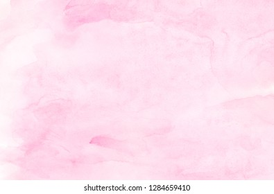 Gentle magenta gradient color handmade illustration. Creative light pink shades watercolor background. Aquarelle paint paper textured canvas for text design, greeting card, template.