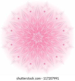 Gentle pink and white round floral frame