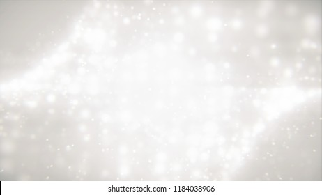 Gentle shimmering ice particles. Abstract particles fall, style particles fireworks  motion